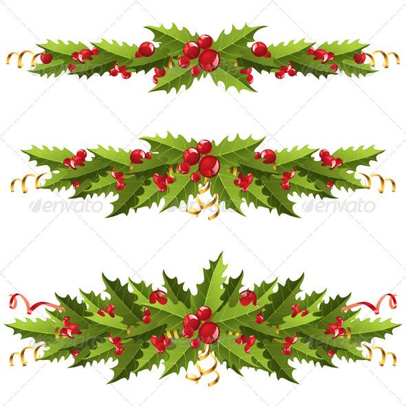 Holly Berry Borders - Christmas Seasons/Holidays