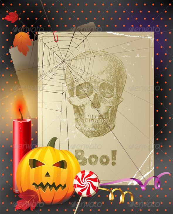Vintage Halloween Background - Halloween Seasons/Holidays