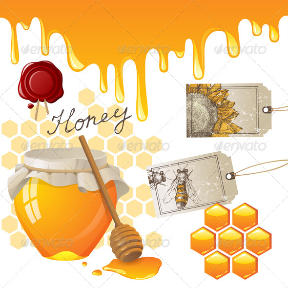 Honey - Food Objects