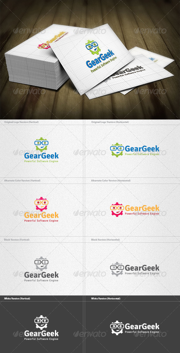 Gear Geek Logo - Humans Logo Templates