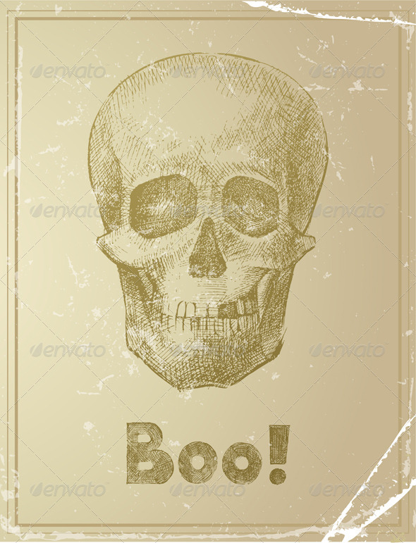 Skull - Retro Technology