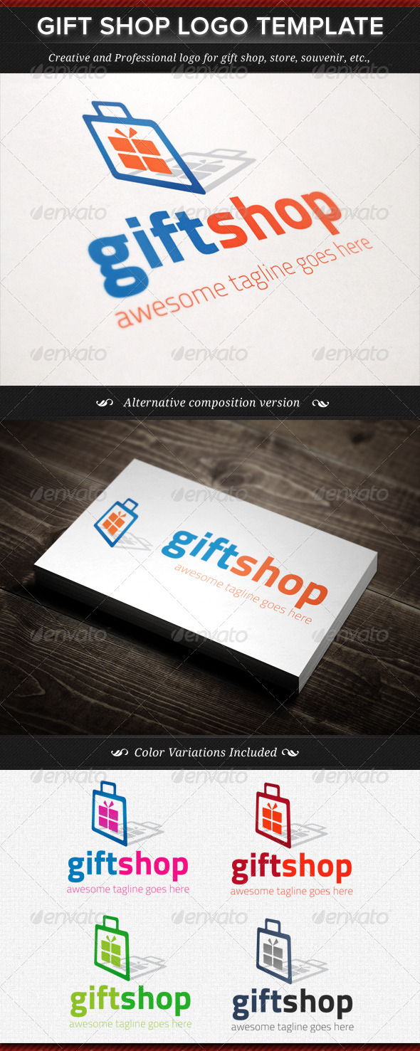 Gift Shop Logo Template - Objects Logo Templates