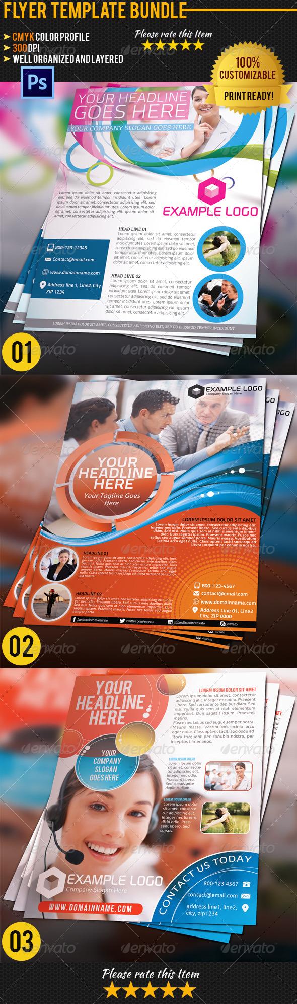 Corporate Business Flyer Bundle 01 - Corporate Flyers