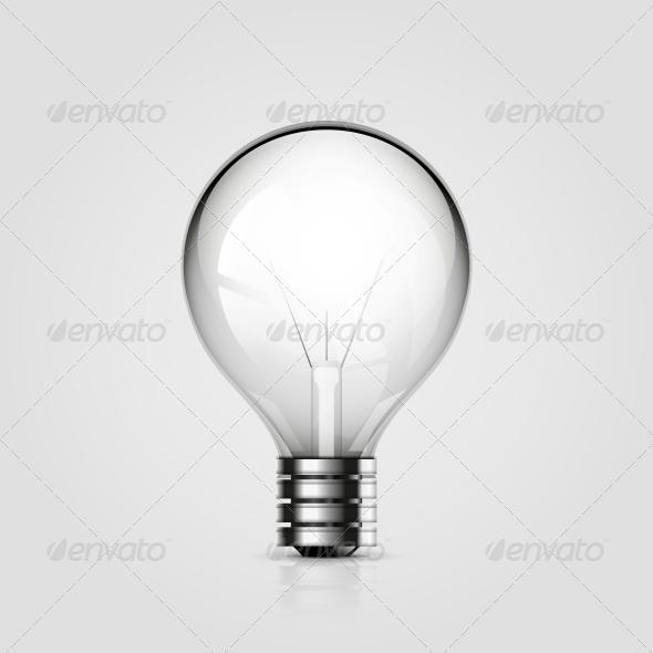 Vector Light Bulb Icon - Web Elements Vectors