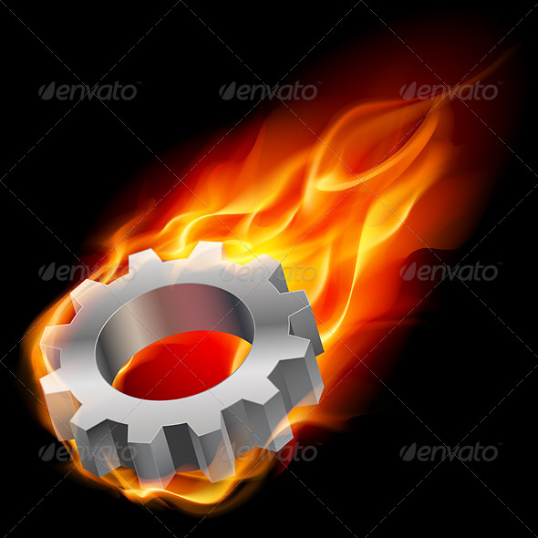 Gearwheel in Fire - Industries Business