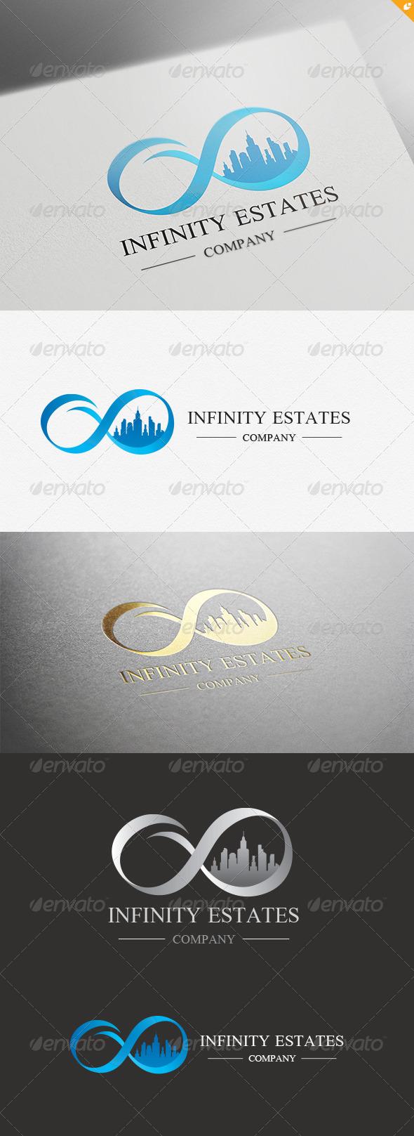 Infinity Estates Logo - Buildings Logo Templates