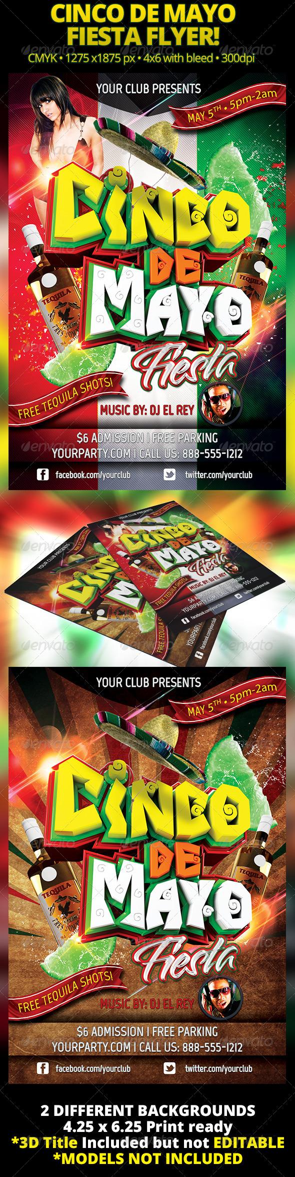 Cinco De Mayo Fiesta Flyer - Holidays Events