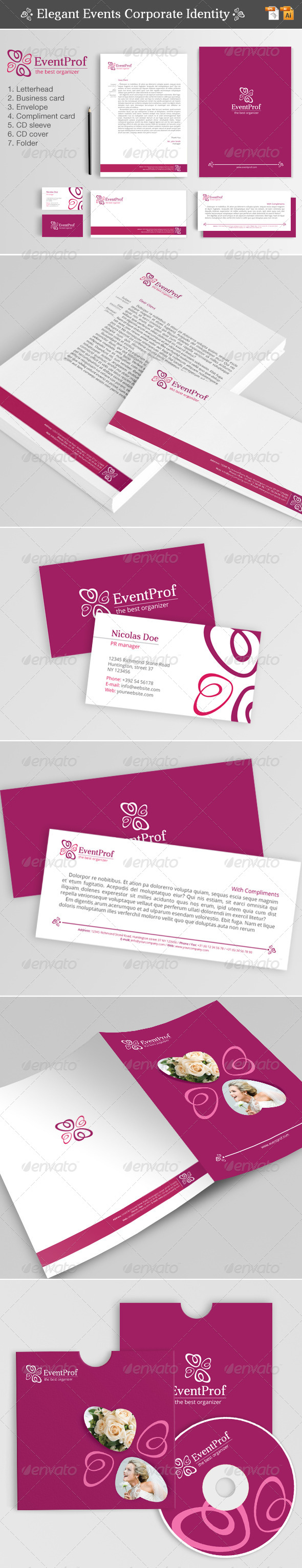 Elegant Events Corporate Identity - Stationery Print Templates