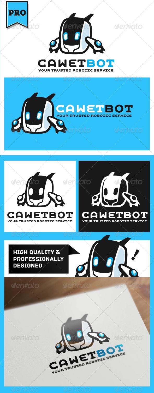 Cawet Bot Modern Robot Logo Template - Humans Logo Templates