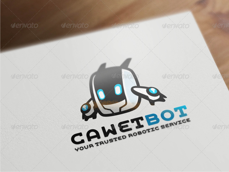 cawet bot modern robot logo template by suhandi graphicriver