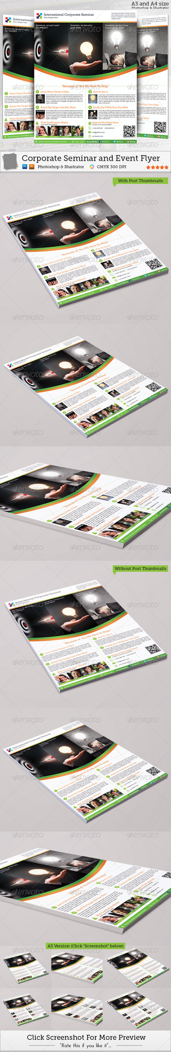 Corporate Seminar and Event Flyer - Corporate Flyers