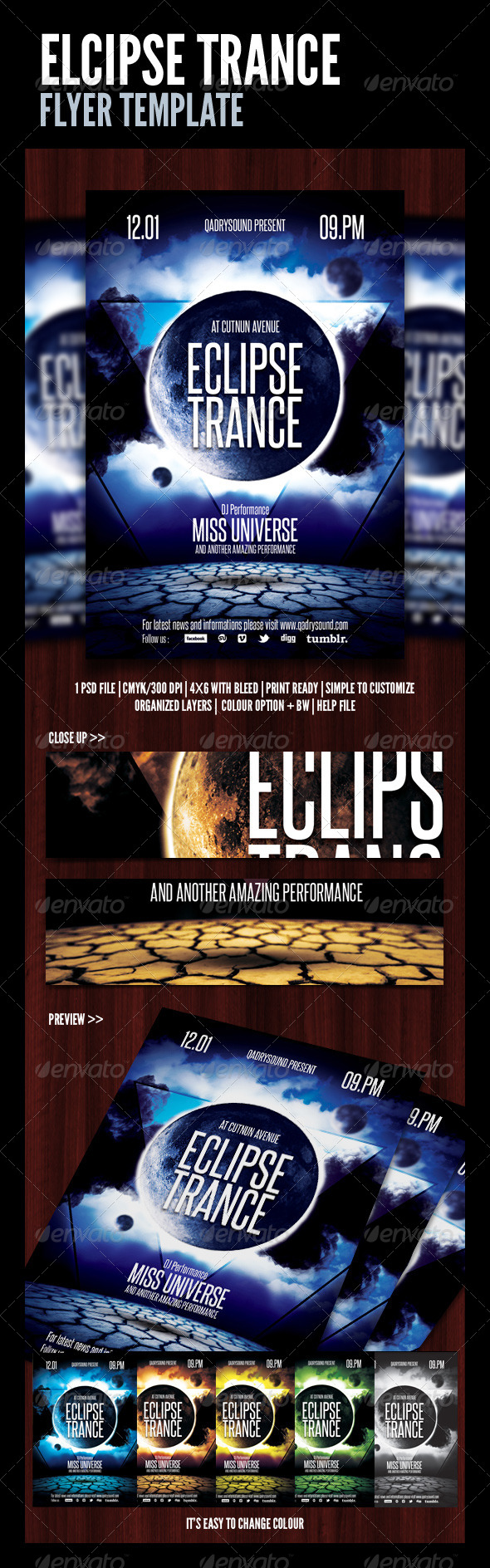 Eclips Trance Flyer/Poster - Clubs & Parties Events