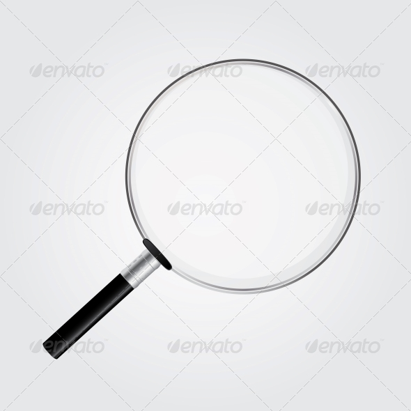 Magnifying Glass Vector Illustration - Computers Technology