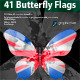 41 Butterfly Flags - GraphicRiver Item for Sale