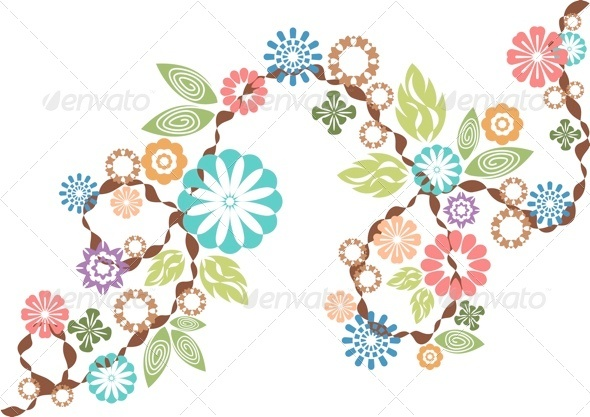 Flower and Leaf Vectors - Flourishes / Swirls Decorative