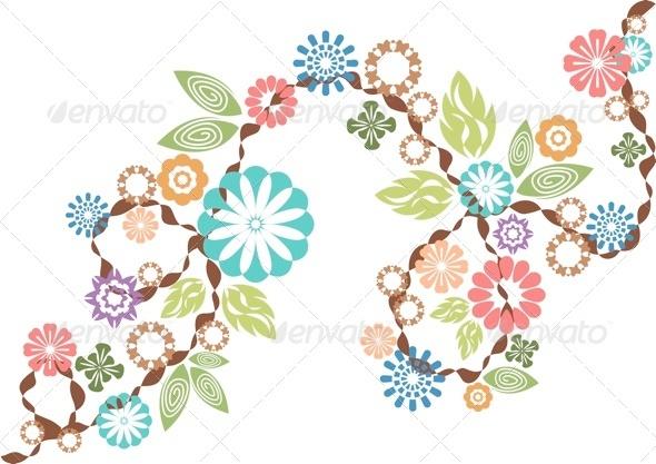 Flower and Leaf Vectors - Flourishes / Swirls Decorative