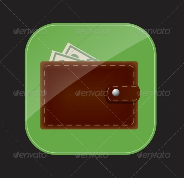 Wallet Icon Vector Illustration - Computers Technology