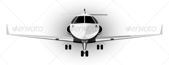Vector Illustration of a Plane - Travel Conceptual