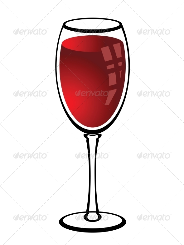 Glass of Red Wine - Miscellaneous Seasons/Holidays