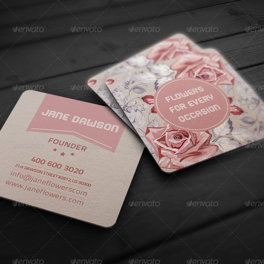 Flower shop business card by elenadodevska graphicriver for Flower business cards