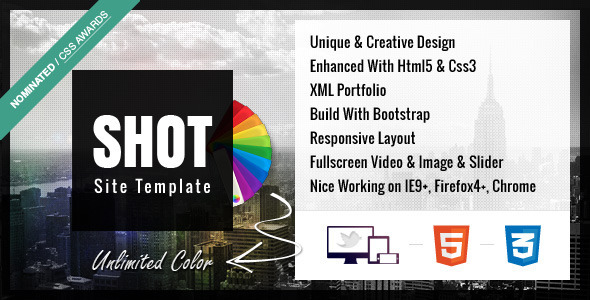 Shot – Full Ajax Responsive Site Template