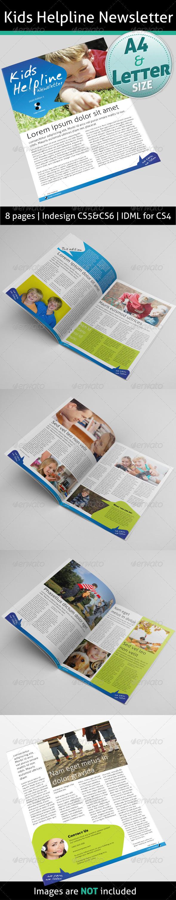 kids Helpline Newsletter - Newsletters Print Templates