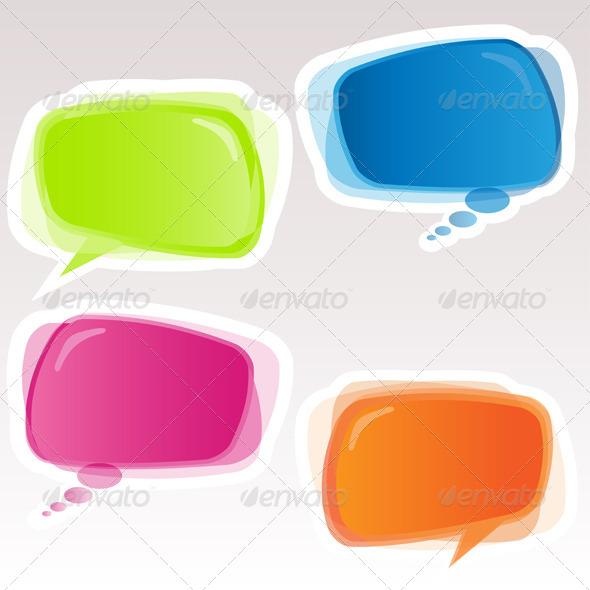 Speech Bubbles - Decorative Vectors