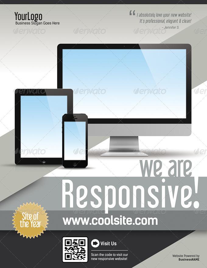 Website Responsive Promo Flyers Template V1 By Levelstudio