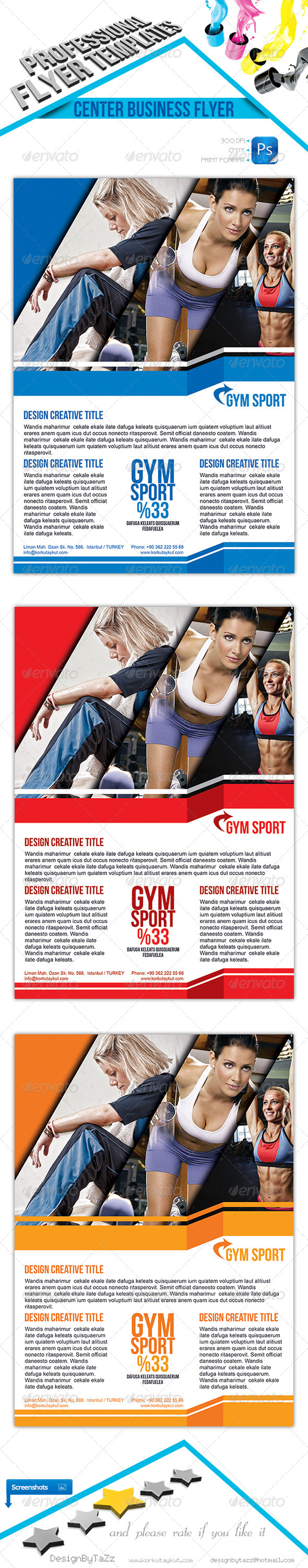 Center Business Flyer Template - Sports Events