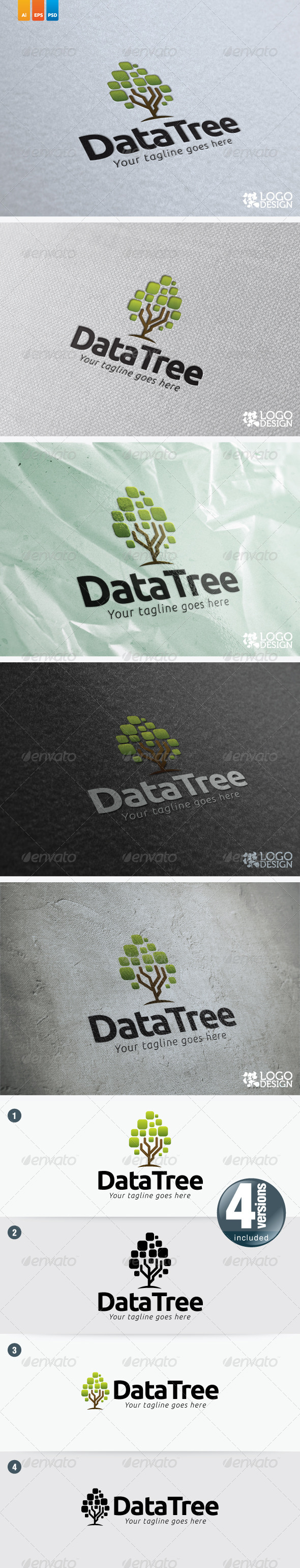Data Tree - Nature Logo Templates