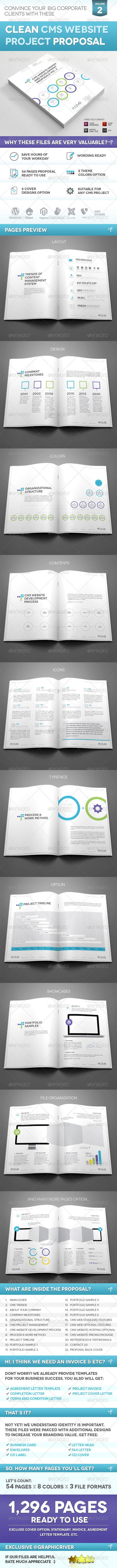 Clean CMS Web Proposal Vol. 2 - Proposals & Invoices Stationery