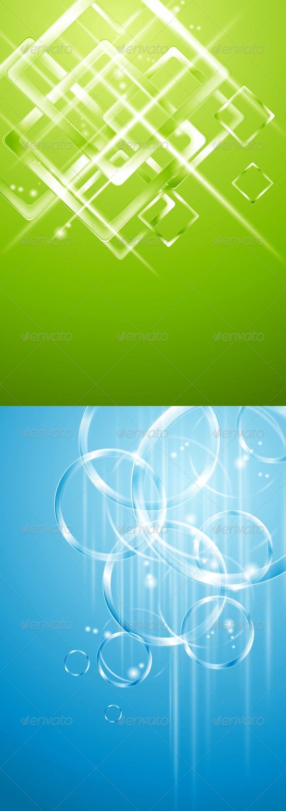 Geometrical and Circle Vector Designs - Backgrounds Decorative
