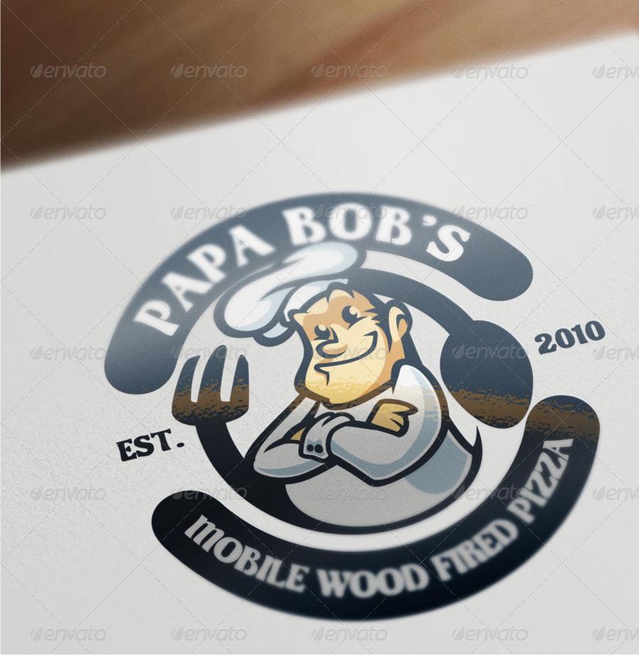 chef mascot logo by suhandi graphicriver
