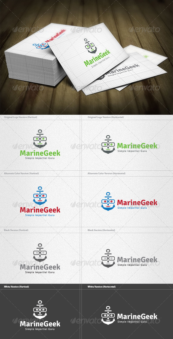 Marine Geek Logo - Humans Logo Templates