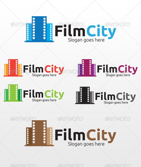 Film City Logo - Buildings Logo Templates