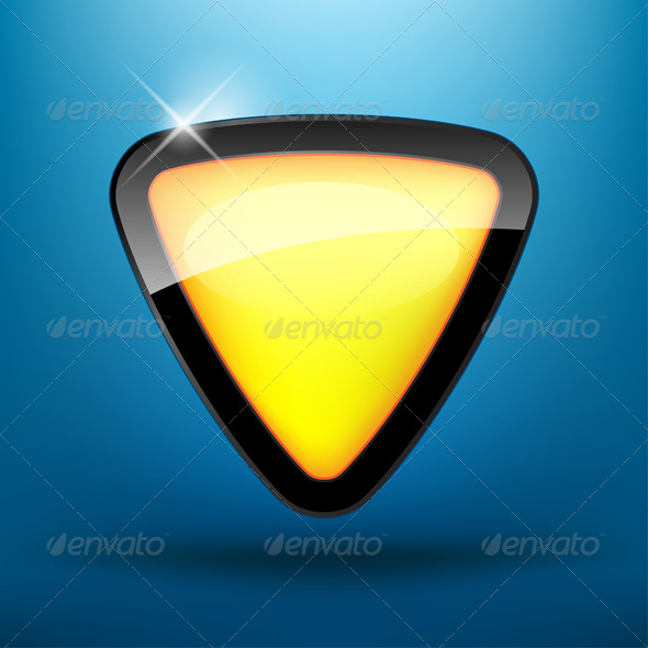 Yelow Button - Web Elements Vectors