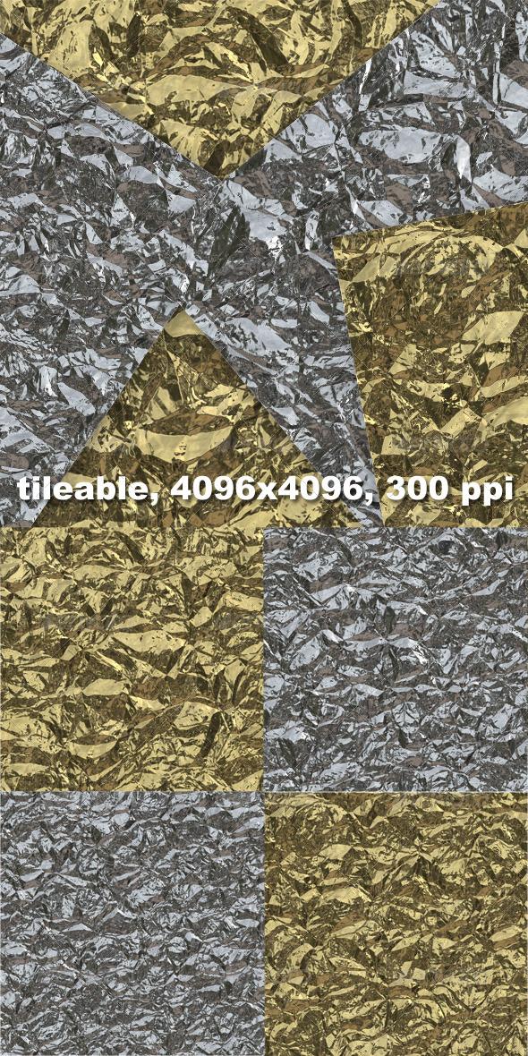 4 Crumpled Tinfoil Textures - Metal Textures