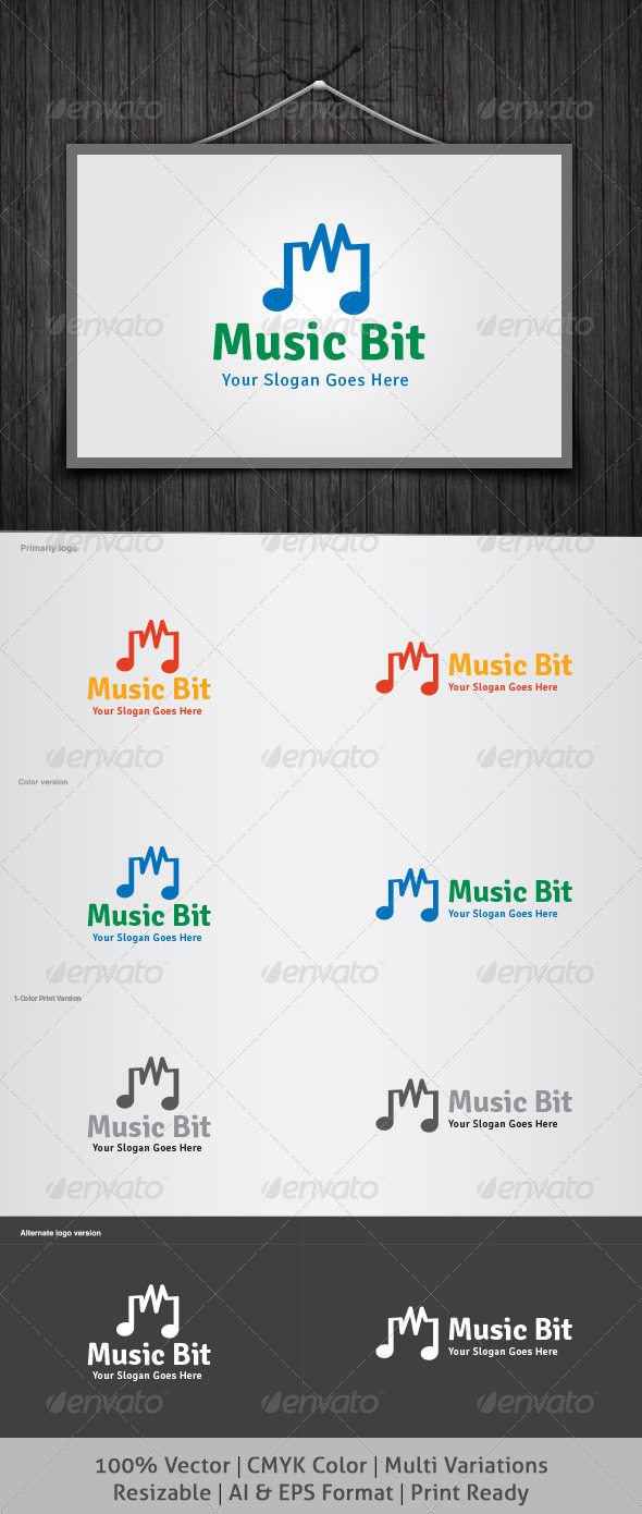 Music Bit Logo - Objects Logo Templates