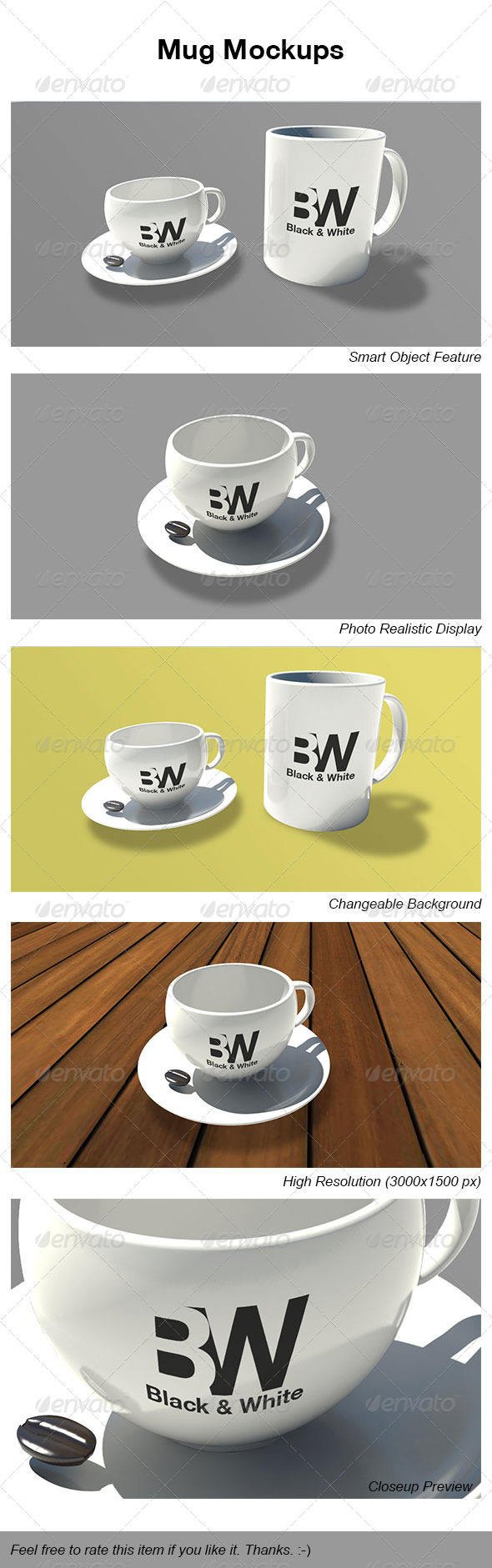 Mug Mockups - Miscellaneous Product Mock-Ups