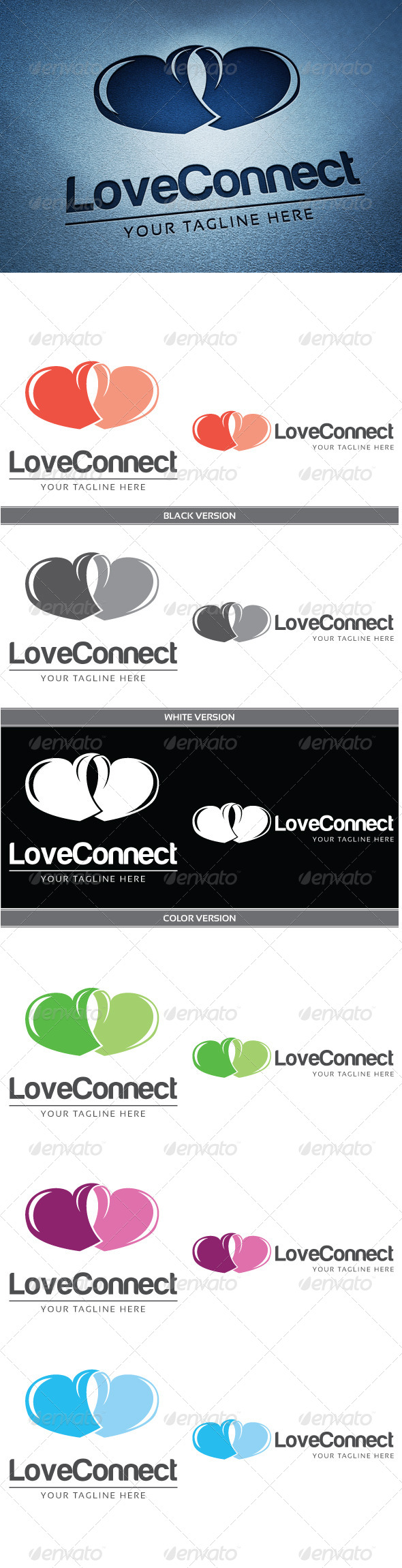 Love Connect - Abstract Logo Templates