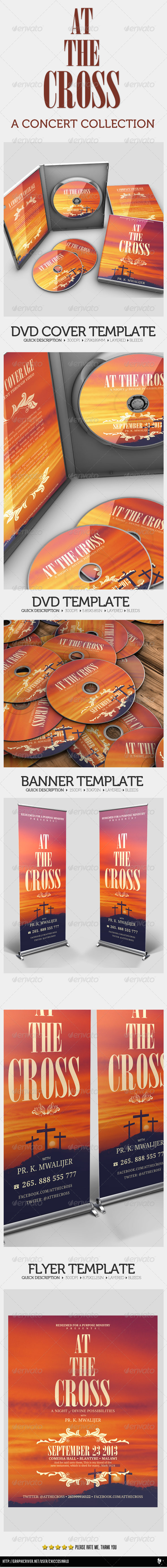 At The Cross Concert Collection Banner Dvd Flyer - Print Templates