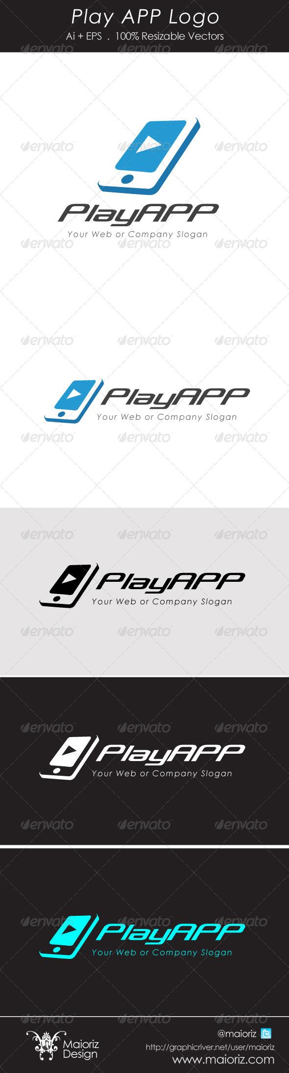 Play App Logotype - Objects Logo Templates