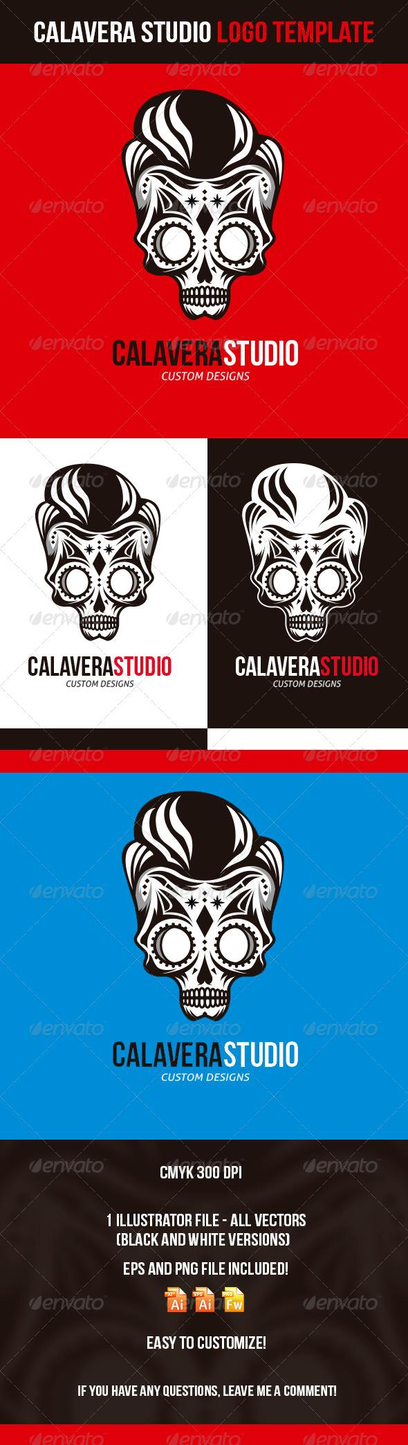 Calavera Studio Logo Template - Logo Templates