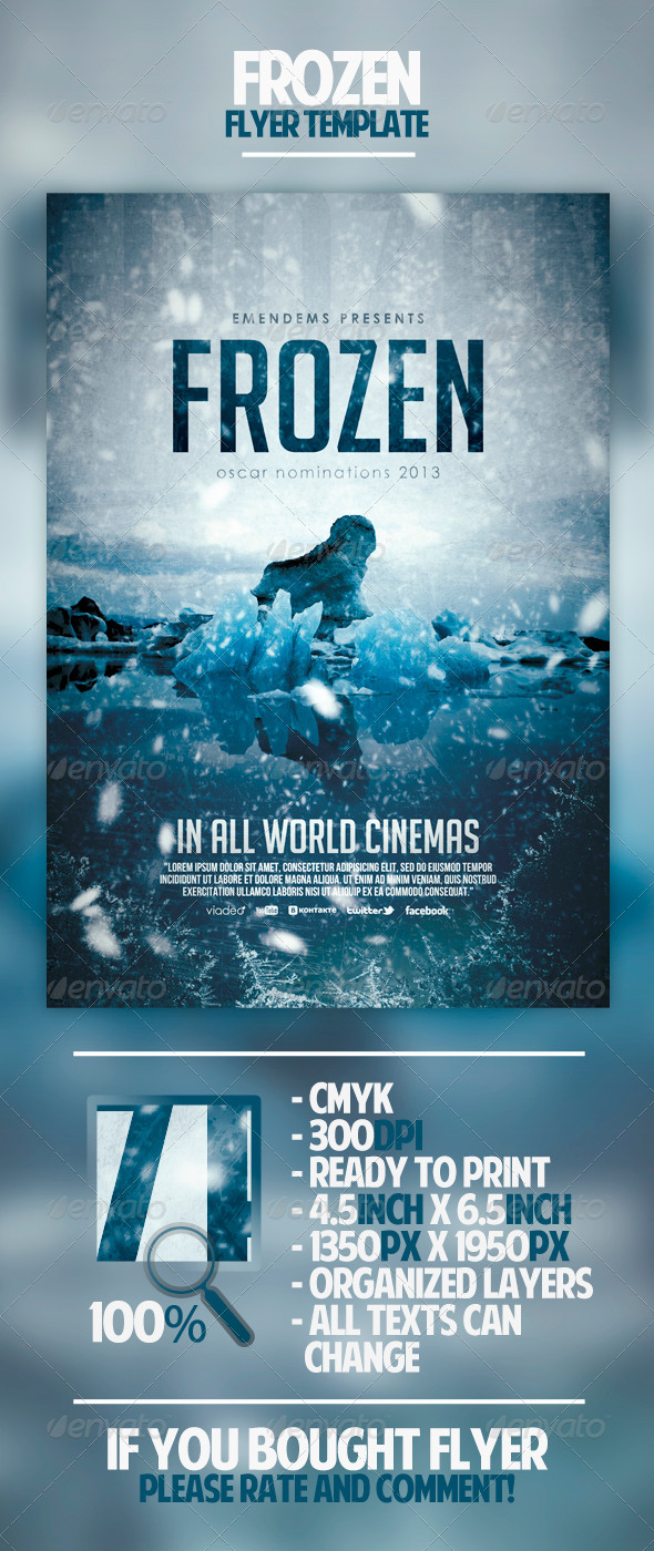 Frozen Flyer Template - Miscellaneous Events