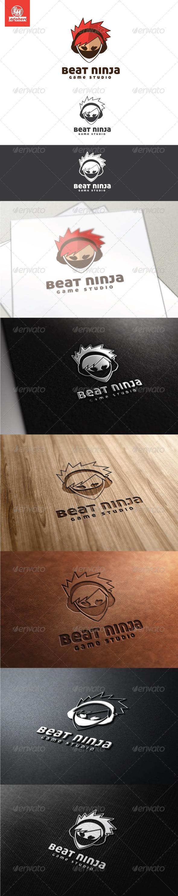 Beat Ninja Logo Template - Humans Logo Templates