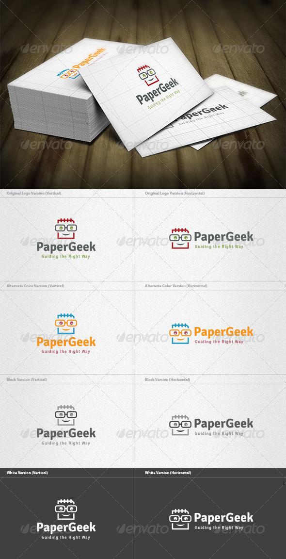 Paper Geek Logo - Humans Logo Templates