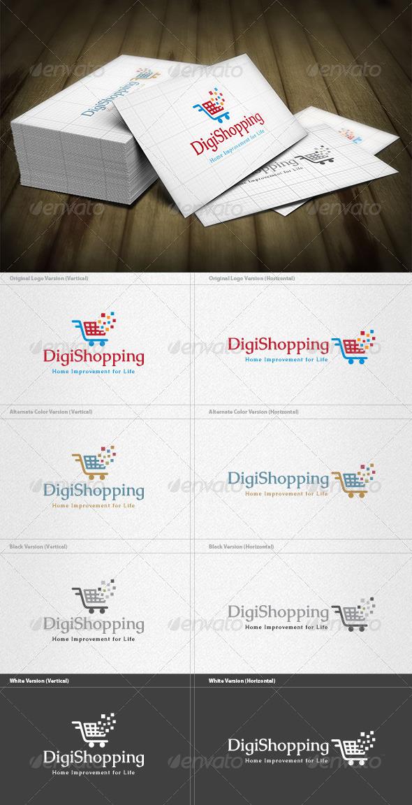 Digital Shopping Logo - Symbols Logo Templates