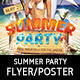 Beach Summer Party Flyer Template - GraphicRiver Item for Sale