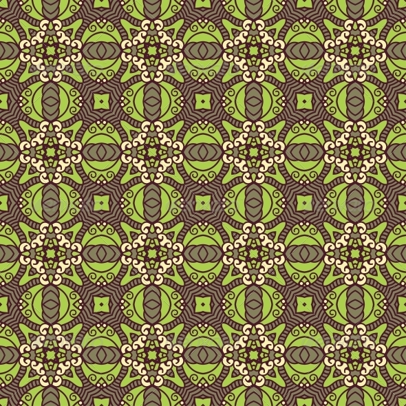 Seamless Colorful Retro Pattern Background - Patterns Decorative