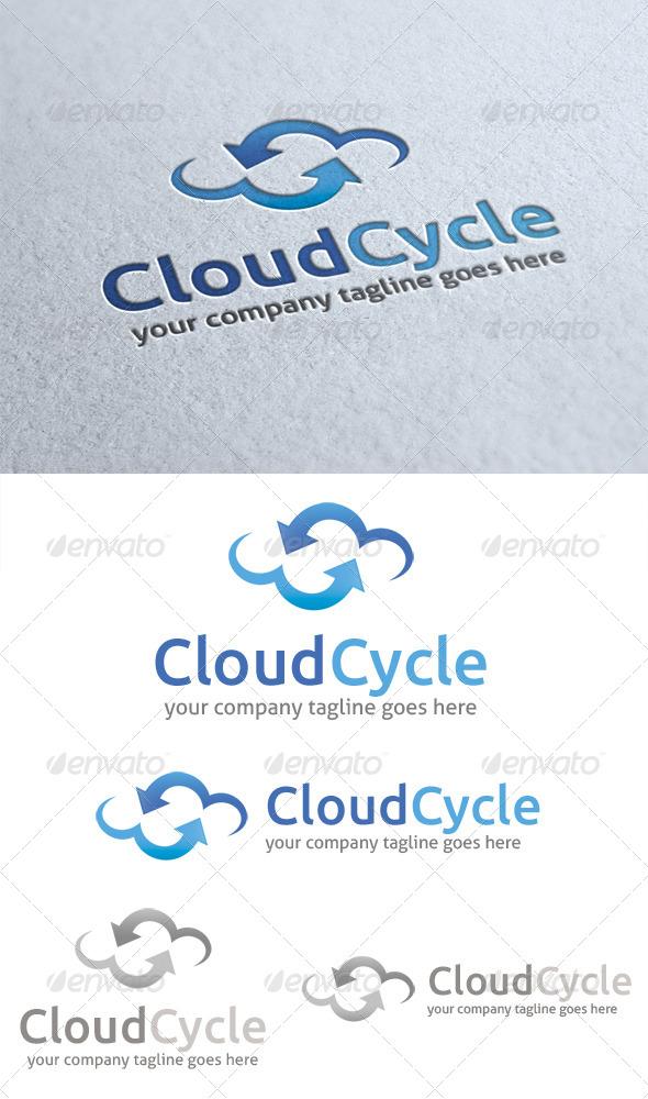 Cloud Cycle Logo - Nature Logo Templates